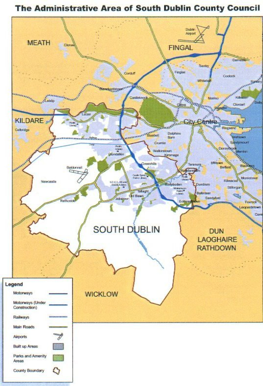 Map of South Dublin